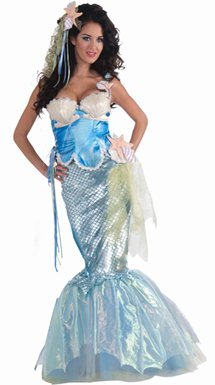 Womens Sexy Mermaid Halloween Sea Costume M/L 8-12