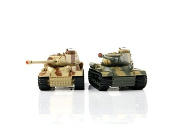 2pcs HQ529 Camouflage Infrared Remote Control Battle Tank Set