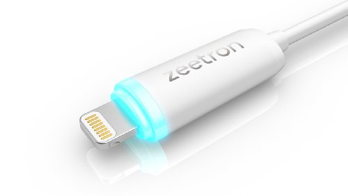 Zeetron Light Up Lightning Usb Cable For Iphone 6, 6 Plus, 5 5S 5C Ipad 4 Ipad Mini Ipad Air Ipod Touch 5Th Gen- Retail Packaging (Lightning To Usb) (Verison 3 New & Improved)