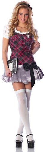 Delicious Women's Playboy Collegiate Cutie Costume, Purple/Black/Silver, Large/X-Large