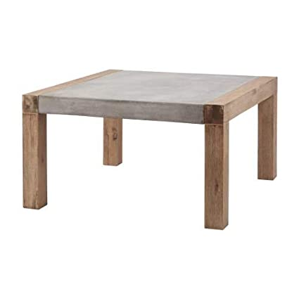 Artistic Lighting Small Indoor/Outdoor Arctic Coffee Table, Concrete Grey/Wood