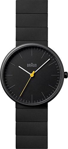 Braun - BN0171BKBKG - Montre Mixte - Quartz Analogique - Bracelet Céramique Noir