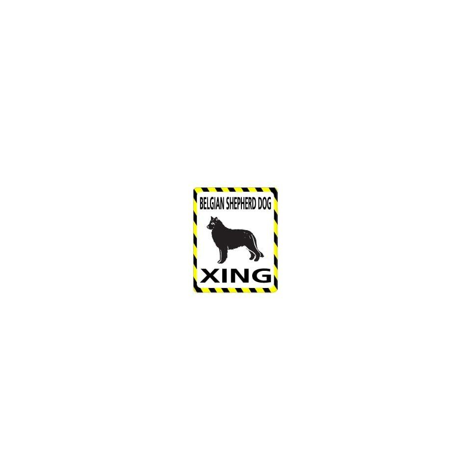 BELGIAN SHEPHERD DOG Crossing   Window Bumper Laptop Sticker