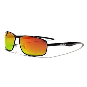 X-Loop Lunettes de Soleil Aviator - Ville - Mode - Fashion - Clubbing - Conduite - Moto - Plage / Mod. 4270 Noir Spectrum Fuel Miroir / Taille Unique Adulte / Protection 100% UV400