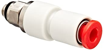 "SMC KS Series PBT Rotary Push-to-Connect Tube Fitting, Connector, 5/32"" Tube OD x 10-32 UNF Male"
