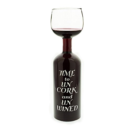 Dozenegg Time to UN CORK and UN WINED Wine Bottle Glass Cup 750ml [並行輸入品]