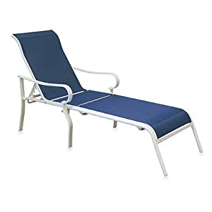 Indoor outdoor oversized adjustable sling for Blue sling chaise lounge