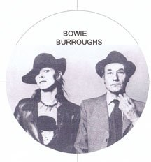 David Bowie and William S Burroughs Refrigerator Magnet