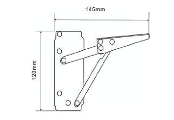 1 Paar Klappenhalter Klappenbeschl/äge Schrankklappenbefestigung verzinkt 120 x 145mm