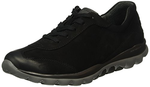 Gabor Shoes Rollingsoft, Sneakers Donna, Nero (Schwarz 47), 38 EU