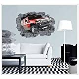 BS Retail break through the walls of the country's first large removable wall stickers 3D effect (60x90cm)