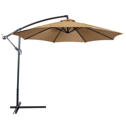 Deluxe Natural 10 39 Offset Patio Umbrella Off Set Outdoor