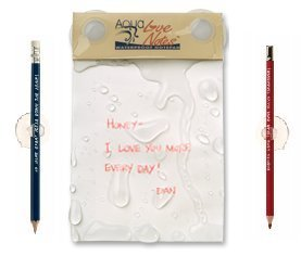 Aqua Love Notes - Waterproof Notepad