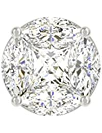 TBZ - The Original Semi Solitaire 18k Yellow Gold And Diamond Nosepin