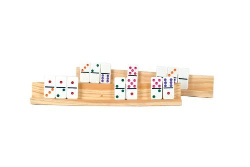 Wooden/Wood Domino Racks (Set of 2)