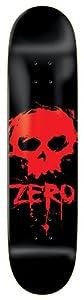 "Zero Blood Skull Planche 8"" Noir Rouge"