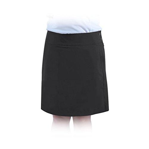 Monterey Club Ladies Stretchable Peach Twill Solid Skort #2877 (Black, Size:12)