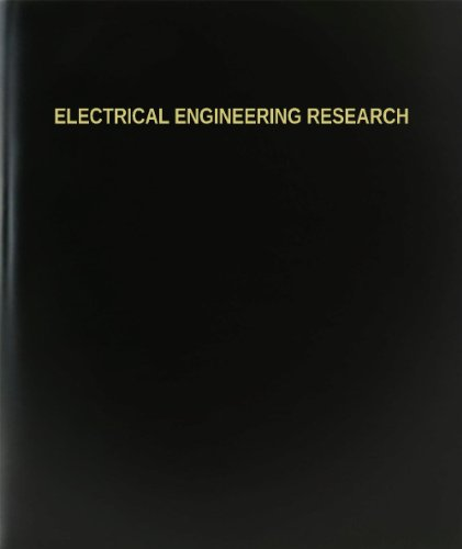"Bookfactory® Electrical Engineering Research Log Book / Journal / Logbook - 120 Page, 8.5""X11"", Black Hardbound (Xlog-120-7Cs-A-L-Black(Electrical Engineering Research Log Book))"