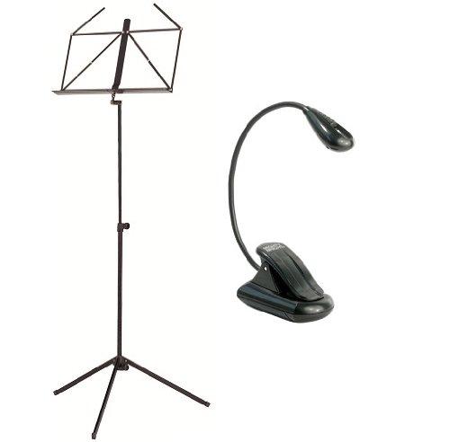 JustIn Notenpult mit Lampe im Set - 46053 Notenständer