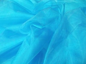Turquoise Blue Plain Organza Voile Fabric Sheer Material Wedding Dress Craft Net Curtain