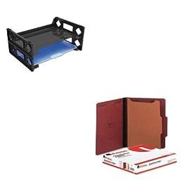 KITUNV08100UNV10250 - Value Kit - Universal Pressboard Classification Folder (UNV10250) and Universal Side Load Letter Desk Tray (UNV08100)