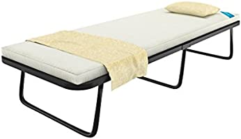 Camabeds Needus Single Size Bed with Mattress (Black)