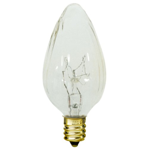 15 Watt - F10 - Wrinkled Glass - 120 Volt - Candelabra Base - Chandelier Decorative Light Bulb - Satco S3360