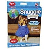 Snuggie For Dogs - Blue colored fleece coat with sleeves - Large