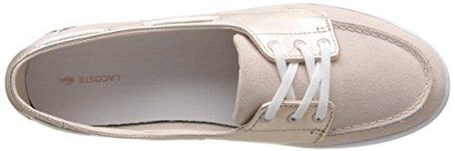 Lacoste Women's Ziane Deck 116 1 Fashion Sneaker, Pink, 8 M US