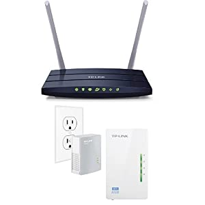 TP-LINK AC1200 Wireless Dual-Band Wi-Fi Router and AV500 Wi-Fi Range Extender