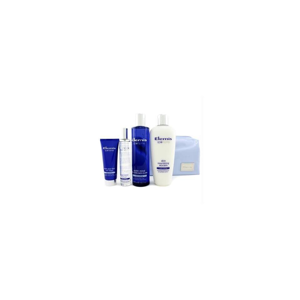 Stars Of Spa Kit Mist + Relaxing Bath Elixir + Milk Bath + Foot Cream   Elemis   Body Care   4pcs+1bag