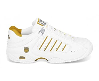 k swiss defier rs tennis shoes white gold uk3 5