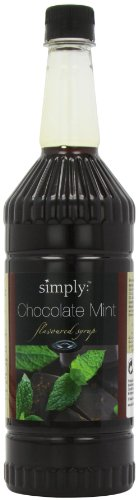 Simply Chocolate Mint Syrup 1 Litre (Pack of 2)