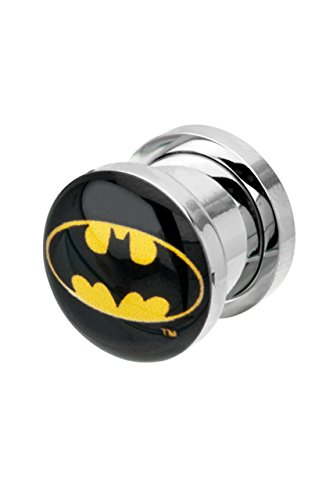 Picture Plug, Logo di Batman nero/giallo, colore: 20mm, cod. IC101907-0007