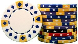 Premium Set of 500 Tri-Color Diamond Suited 11.5 gram Poker Chips w/6 Dealer Buttons