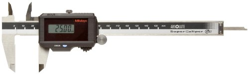 Mitutoyo ABSOLUTE 500-776 Digital Caliper, Stainless Steel, Solar Powered, 0-150mm Range, +/-0.02mm Accuracy, 0.01mm Resolution, Meets IP67 Specifications