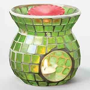 Mosaic Tart Burner - Light Green