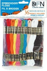 Janlynn Cotton Embroidery Floss Pack 8.7 Yards 36/Pkg Primary Colors 3001-25; 6 Items/Order