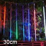Led Meteor Shower Rain Tube Lights Outdoor Tree Decoration 8X 30Cm Poles - Rgb
