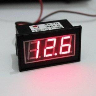 """Smakn 0.56"""" Waterproof Digital Voltmeter Dc 4.5-150V Led Auto Mini Volt Tester Panel Meter (Red)"""