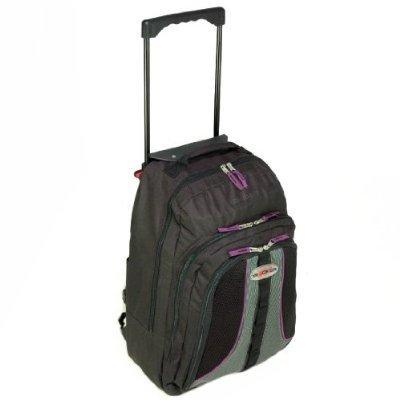 Cabin Approved 45 Litre Wheeled Trolley Backpack (Black/Purple) by Karabar