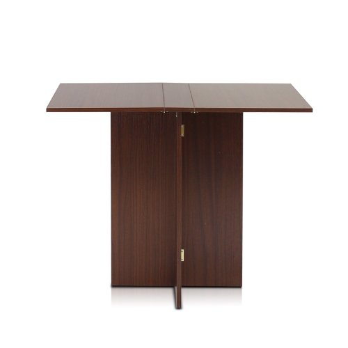 Furinno Fnaj-11072 Boyate Special Simple Folding Table, Walnut front-1008396