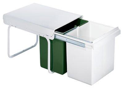 G n rique poubelle coulissante tri selectif 30 litres - Poubelle cuisine encastrable 30 litres ...