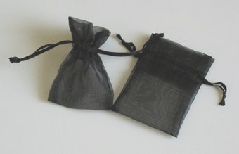 "Rina's Garden Organza Favor Bags - 3""x4"" - Black Color - 150 Bags"