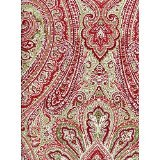 Ralph Lauren Fenton Paisley Red-Green Rectangular Tablecloth, 60-by-120 Inches