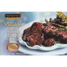 Vegetarian Plus Vegan Black Pepper Steak, 10.5 Ounce -- 12 Per Case.