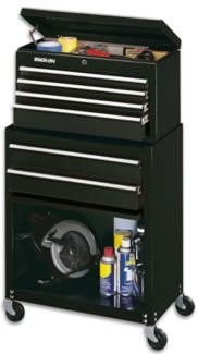 Stack-On 6 Drawer Chest/Cab. Combo , Black, , Medium Scblk-600-Ds front-183510