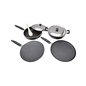 Anjali 4 Pcs Non Stick Cookware Set