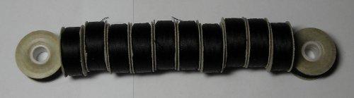 Robinson-Anton L-Style Pre Wound Polyester Prewound Bobbin Black Prewound Bobbins 12ct