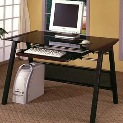 Buy Low Price Comfortable Desks Computer Desk with Keyboard Tray by Coaster (B0051PC430)